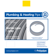 PolyPlumb 15mm x 25M Barrier Polybutylene Pipe Coil - Grey