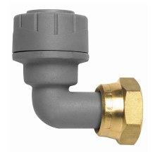 Polyplumb Bent Tap Connector 15mm Grey