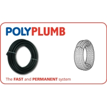 Polypipe 15mm x 50M Conduit Pipe Coil Black