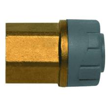 PolyPlumb 10mm x 1/4inch Female BSP Adaptor Brass