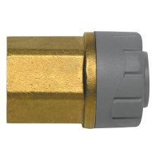 PolyPlumb 15mm x 1/2inch Female BSP Adaptor Brass
