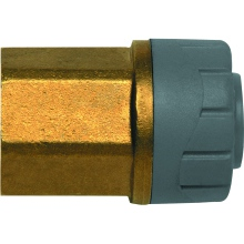 PolyPlumb 15mm x 3/4inch Female BSP Adaptor Brass