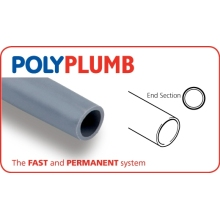 Polyplumb Length Pipe 15mm x 3m Grey