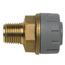 PolyPlumb 15mm Male BSP Adaptor - Brass