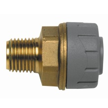 PolyPlumb 22mm x 3/4inch Male BSP Adaptor Brass