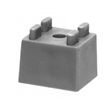 PolyPlumb 15mm Pipe Clip Spacer Grey
