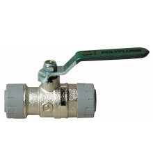 PolyPlumb 15mm Quarter Turn Ball Valve Nickel Plated Brass