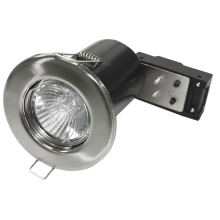 Powermaster 50W Fire Rated Downlight Brushed Steel