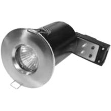 Powermaster 50W GU10 Fire Rated Fixed Downlight Brushed Steel