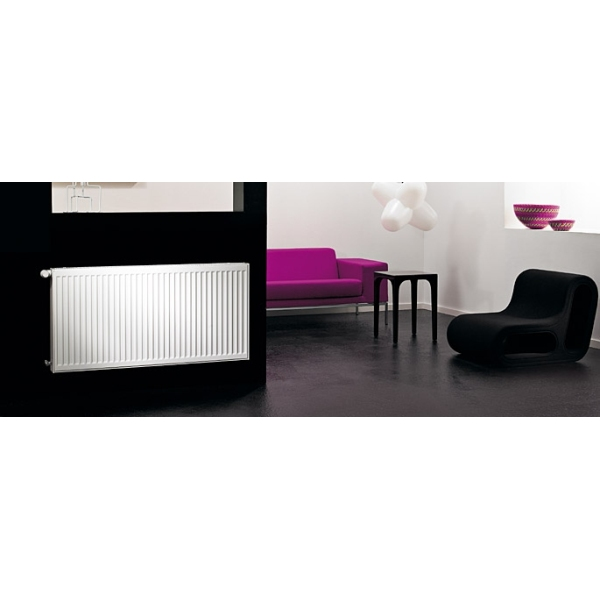 Purmo Compact Radiator Single Panel Single Convector 600mm x 1000mm White