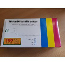 R & M Nitrile Gloves (100 Pack) Medium