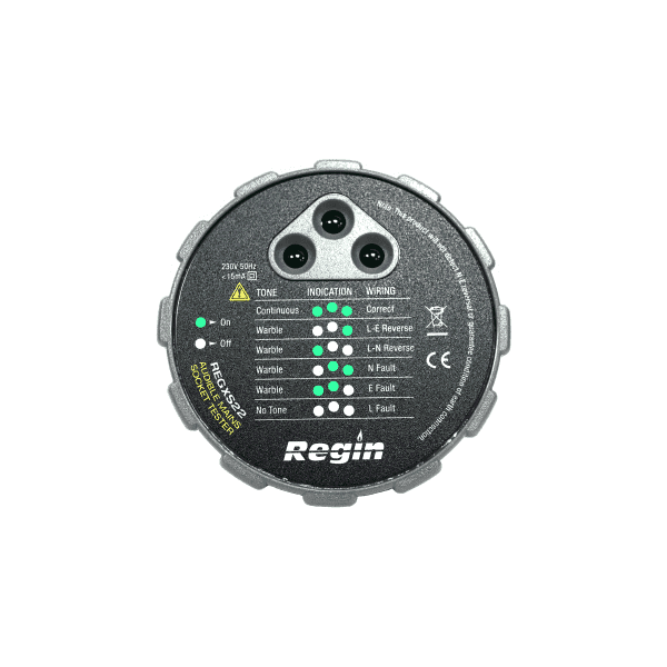 Regin Audible Mains Socket Tester