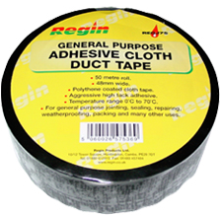 Regin Duct Tape Black 48mm x 50m REGJ75