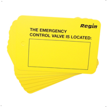Regin Emergency Control Valve Location Plate (8) REGP98