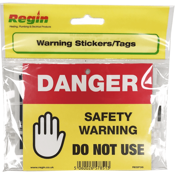REGP36 Danger Do Not Use Sticker/Tag PK8