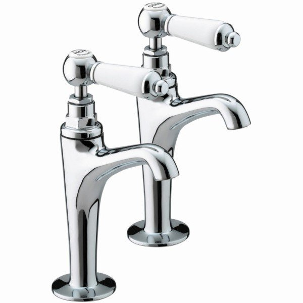 Renaissance High Neck Pillar Taps Chrome