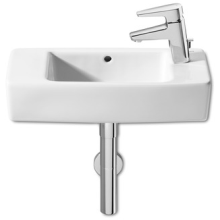 Roca Hall Basin 1 Tap Hole Right Hand White