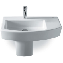 Roca Hall Basin Offset 1 Tap Hole White