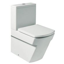 Roca Hall Close Coupled Moulded Back To the Wall Pan White