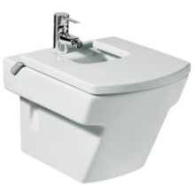 ROCA HALL Wall Hung Bidet 1 Tap Hole White