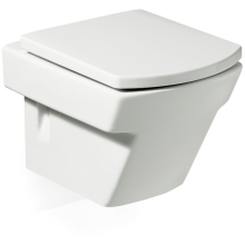 Roca Hall Wall Hung Pan White