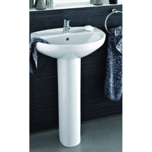 Roca Laura Eco 1 Tap Hole Basin Pick Up Pack - White
