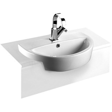 Roca Laura Semi Recessed Basin 1 Taphole 510mm