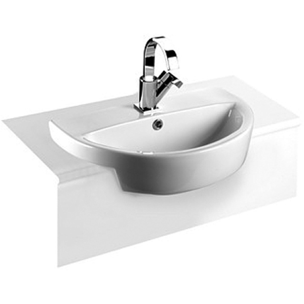 Roca Laura 1 Tap Hole Semi-Recessed Basin 510mm