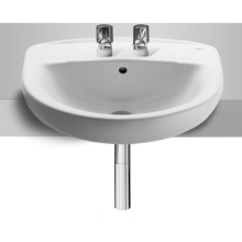 Roca Laura Semi Recessed Basin 2 Tapholes 510mm