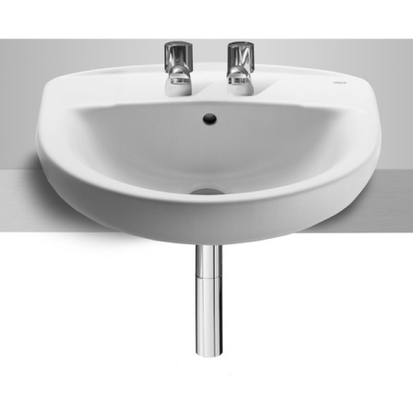 Roca Laura 2 Tap Hole Semi-Recessed Basin 510mm