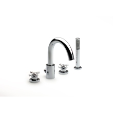 Roca Loft 4 Hole Bath Shower Mixer Chrome