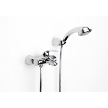 ROCA M2-N WALL Mounted Bath Shower Mixer and Kit Chrome