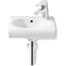 Roca Meridian Compact Cloakroom Basin 1 Tap Hole White