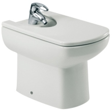 Roca Senso Compact Back To Wall Bidet 1 Tap Hole with Fixing Kit - White