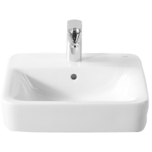 Roca Senso Square Basin 1 Tap Hole White