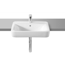 Roca Senso Square Semi Recessed Basin White