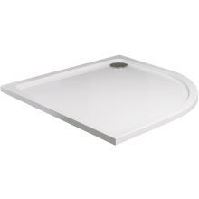 Roman 900mm x 760mm Acrylic Capped Stone Quadrant Shower Tray - Left Hand