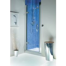 Roman Collage Hinged Door Clp Unprinted Glass