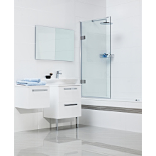 Roman Decem Hinge Bath Screen 830 Curved