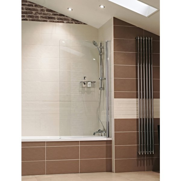 Roman Lumin8 Frameless Square Bath Screen (8mm) 1500mm x 835mm - Silver
