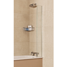 Roman Lumin8 Mini Fixed Bath Screen (8mm) 1500mm x 250mm - Silver