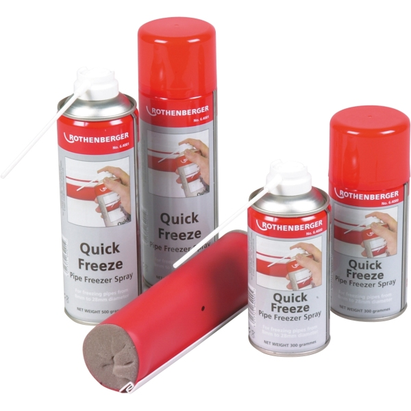 Rothenberger Quick-Freeze Pipe Freezing Spray Jumbo Can 500g