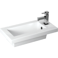 Slimline Breeze Basin 610mm White