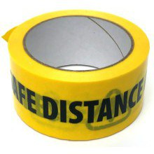 Social Distancing Yel/Black Tape 48mm x 33m