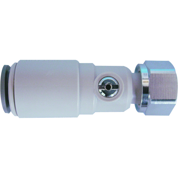 "JG Speedfit Plastic Service Valve with Tap Connector 15mm x 1/2"" grey"