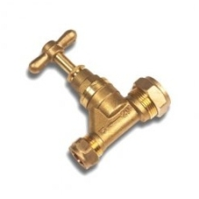 Stopcock Brass Poly 20mm X 20mm