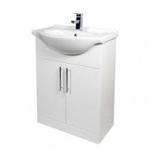 Suregraft Base Unit & Basin 650 x 300mm Gloss White