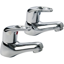 Suregraft Basin Taps Pair Chrome Plated