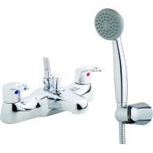 Suregraft Bath Shower Mixer inc hose and handset Chrome Plated
