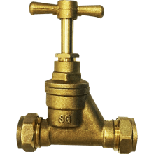 Suregraft Brass Stopcock 22 x 22mm BS1010